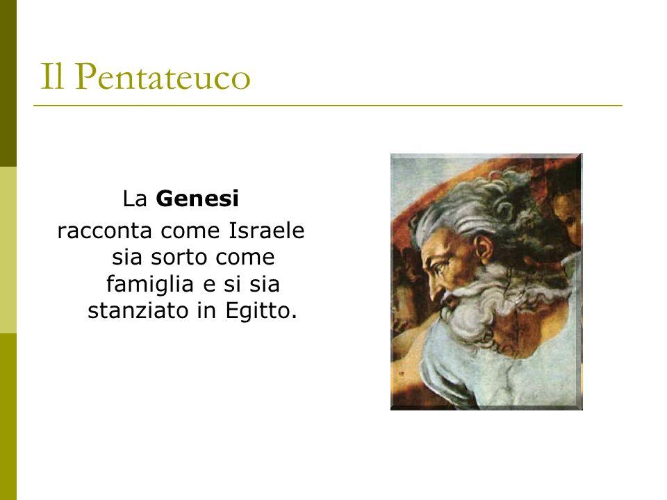 Il Pentateuco La Genesi racconta come Israele sia sorto come famiglia e si sia stanziato in Egitto.