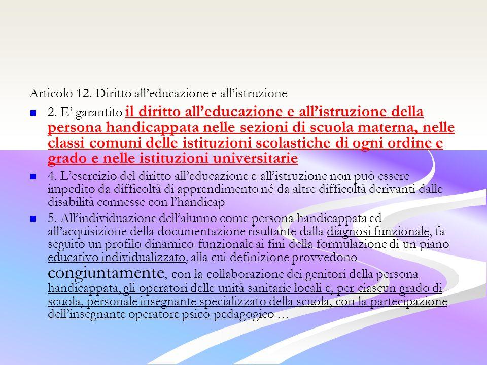 Articolo 12.Diritto alleducazione e allistruzione 2.