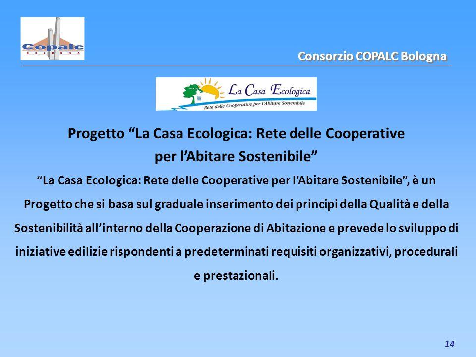 14 Progetto La Casa Ecologica: Rete delle Cooperative per lAbitare Sostenibile La Casa Ecologica: Rete delle Cooperative per lAbitare Sostenibile, è u