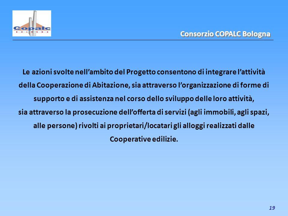 19 Le azioni svolte nellambito del Progetto consentono di integrare lattività della Cooperazione di Abitazione, sia attraverso lorganizzazione di form
