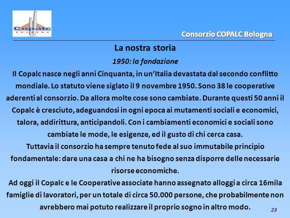 23 La nostra storia 1950: la fondazione Il Copalc nasce negli anni Cinquanta, in unItalia devastata dal secondo conflitto mondiale. Lo statuto viene s