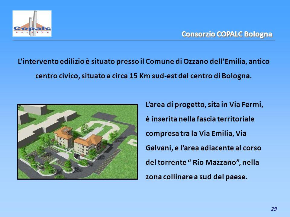 29 Lintervento edilizio è situato presso il Comune di Ozzano dellEmilia, antico centro civico, situato a circa 15 Km sud-est dal centro di Bologna. Co
