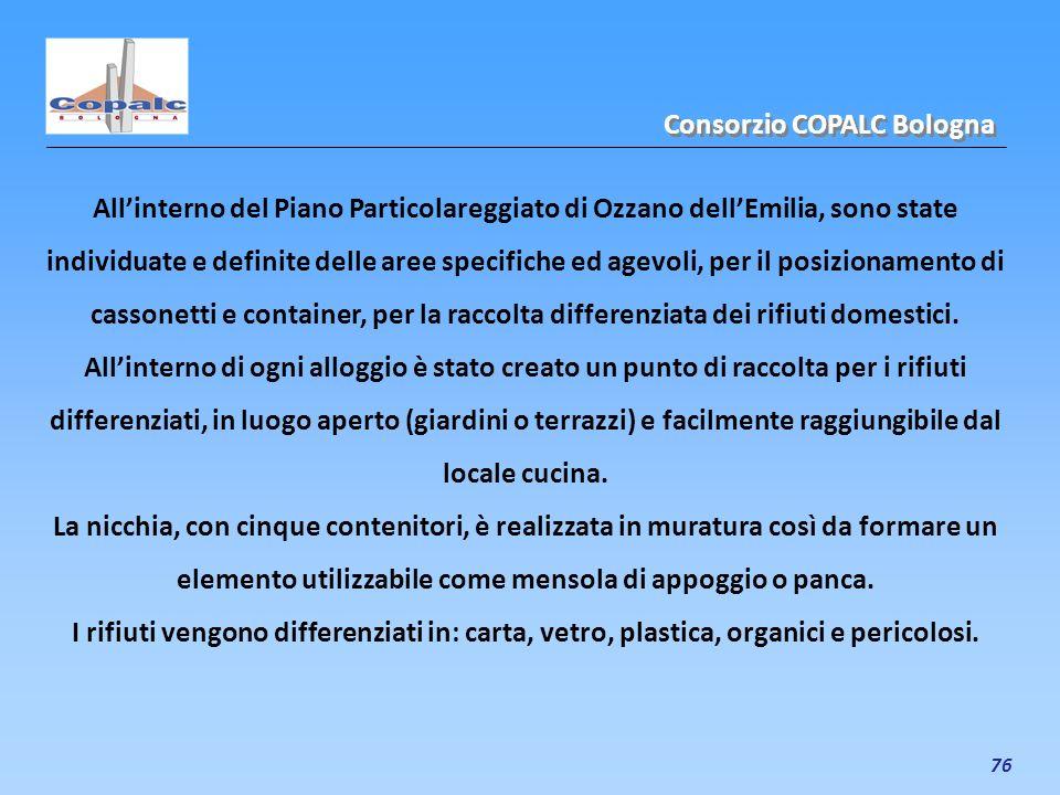 76 Allinterno del Piano Particolareggiato di Ozzano dellEmilia, sono state individuate e definite delle aree specifiche ed agevoli, per il posizioname