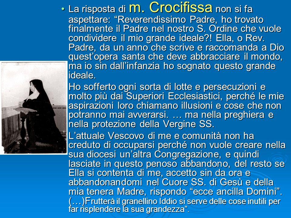 P. Lorenzo nella lettera a M. Crocifissa nel 1924 parla di questa testimonianza: P.