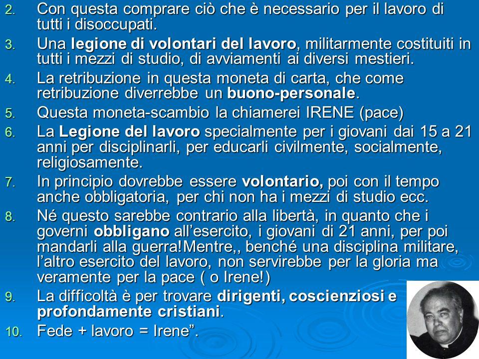 Nellambito dei problemi sociali e il lavoro: Nella nota pastorale, mondo rurale che cambia e Chiesa in Italia, assumono particolare interesse le azion