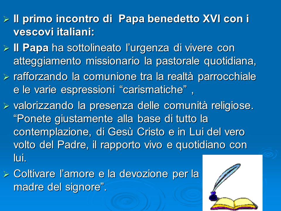 1. LEVANGELIZZAZIONE IN ITALIA E LA PROPOSTA DEI FONDATORI