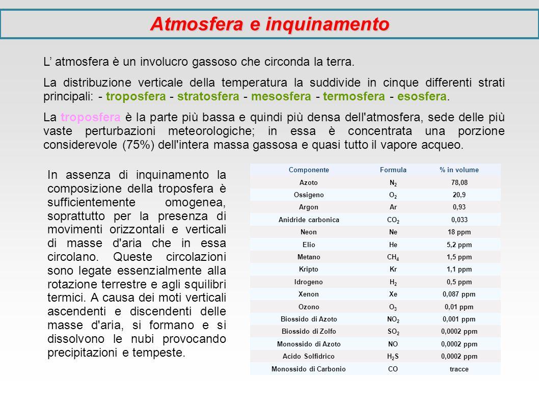 Grandi impianti di combustione Sono identificati dalla legislazione come quelli con potenzialità del focolare > 50 MWt, con alcuni importanti casi significativi – anche di potenzialità minore - che hanno normative specifiche (turbogas; motori a combustione interna; reattori chimici; inceneritori di rifiuti; alcuni impianti metallurgici;...); comprendono gli impianti termoelettrici con ciclo a vapore; si applicano i seguenti limiti generali: Potenza termica > 500 MW SO2 400 mg/m3 NOx 200 mg/m3 Polveri 50 mg/m3 Potenza termica < 500 MW SO2 1700 mg/m3 NOx 650 mg/m3 Polveri 50 mg/m3 Il limite per l ossido di carbonio CO è fissato a 250 mg/m3.
