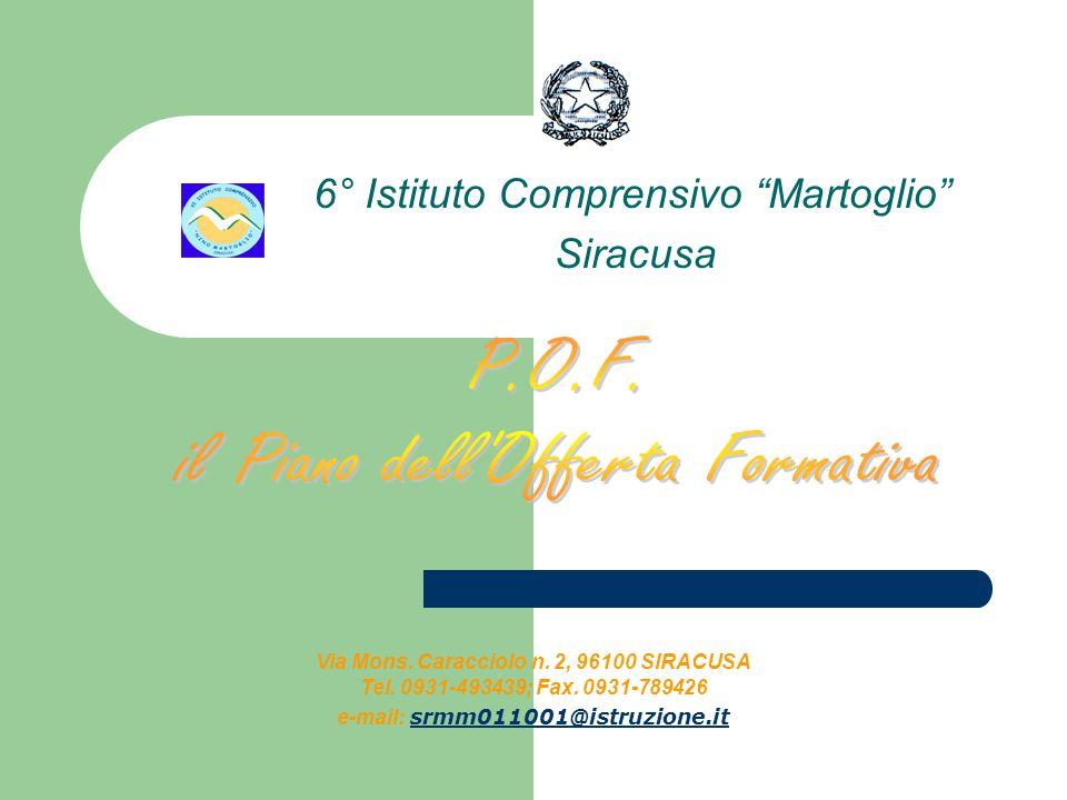 6° Istituto Comprensivo Martoglio Siracusa Via Mons.