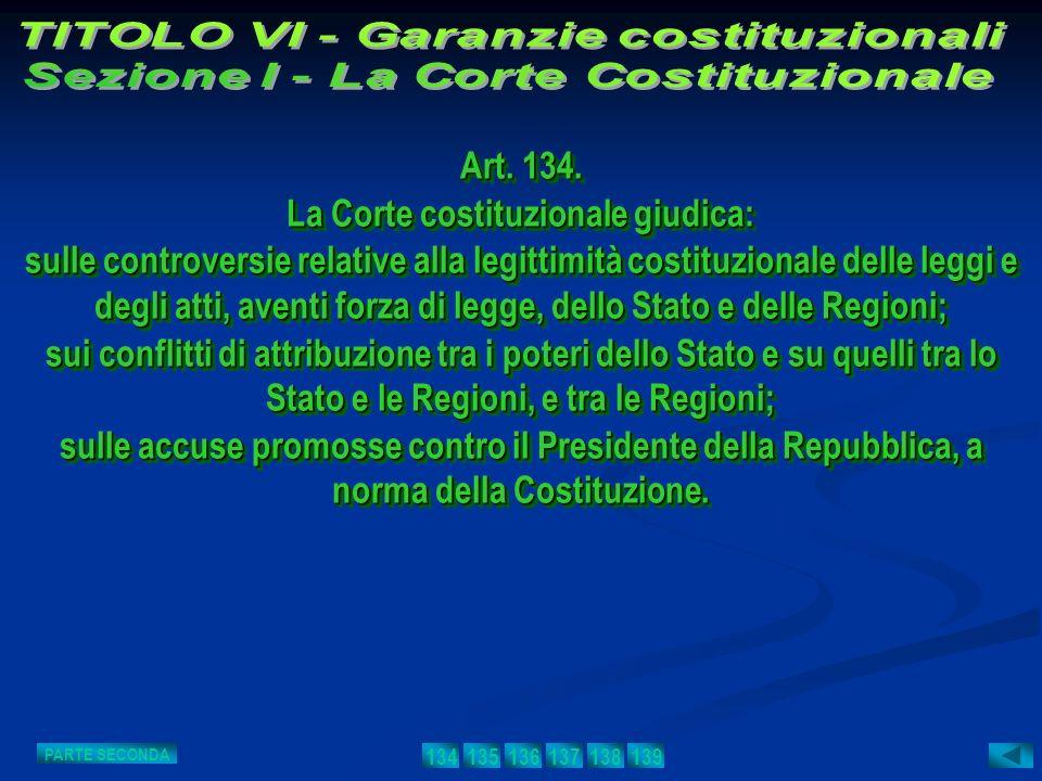 Art. 134. La Corte costituzionale giudica: sulle controversie relative alla legittimità costituzionale delle leggi e degli atti, aventi forza di legge
