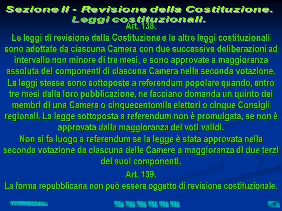 Art. 139. La forma repubblicana non può essere oggetto di revisione costituzionale. Art. 139. La forma repubblicana non può essere oggetto di revision