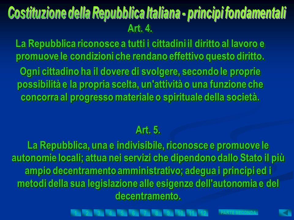 Art. 4. La Repubblica riconosce a tutti i cittadini il diritto al lavoro e promuove le condizioni che rendano effettivo questo diritto. Ogni cittadino