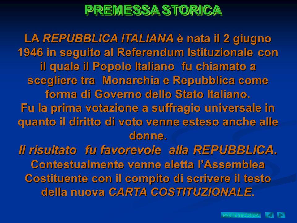 LA REPUBBLICA ITALIANA è nata il 2 giugno 1946 in seguito al Referendum Istituzionale con il quale il Popolo Italiano fu chiamato a scegliere tra Mona