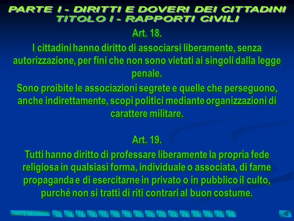Art. 18. I cittadini hanno diritto di associarsi liberamente, senza autorizzazione, per fini che non sono vietati ai singoli dalla legge penale. Sono