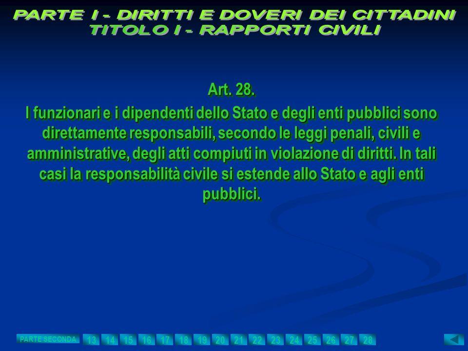Art. 28. I funzionari e i dipendenti dello Stato e degli enti pubblici sono direttamente responsabili, secondo le leggi penali, civili e amministrativ