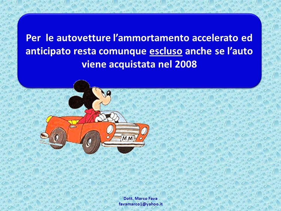 Dott.Marco Fava favamarco1@yahoo.it 1.Acquisto o importazione dei veicoli.