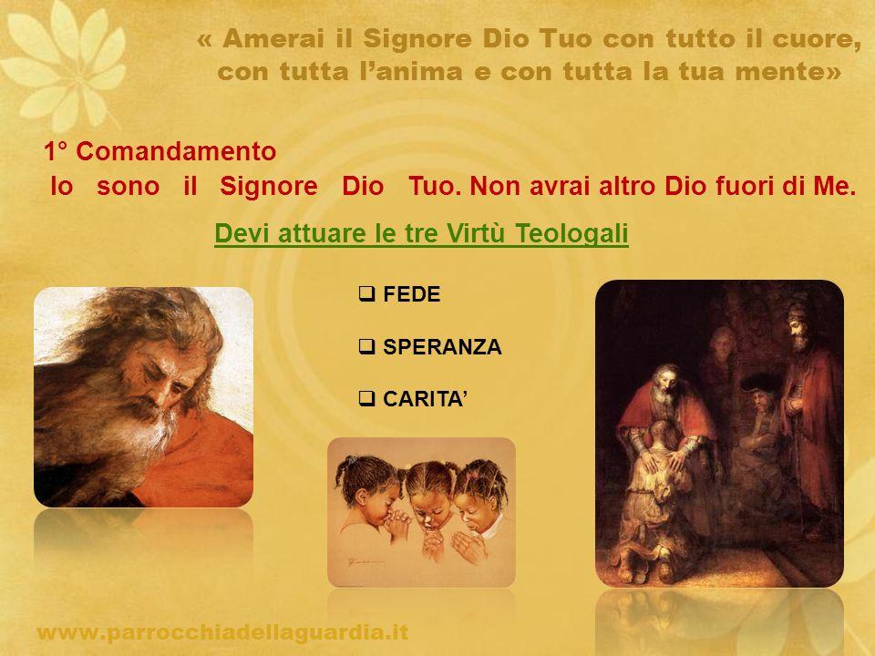ritardo « Amerai il Signore Dio Tuo con tutto il cuore, con tutta lanima e con tutta la tua mente» 1° Comandamento Io sono il Signore Dio Tuo.