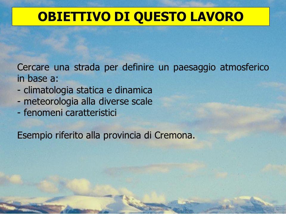 INQUADRAMENTO CLIMATICO DEL TERRITORIO PROVINCIALE DI CREMONA