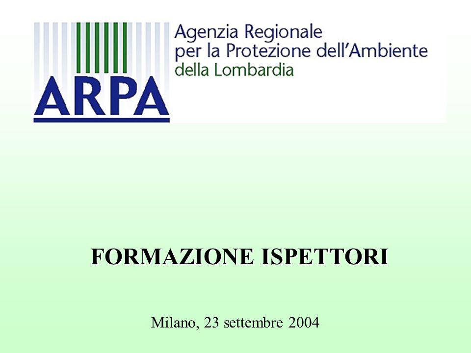 Milano, 23 settembre 2004 FORMAZIONE ISPETTORI
