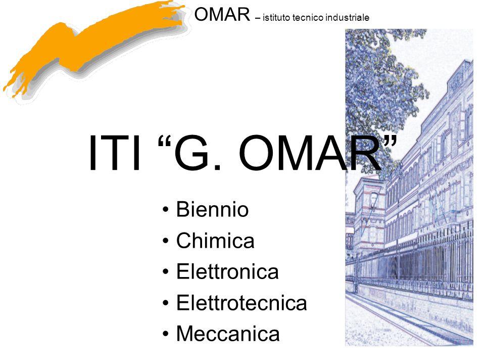 OMAR – istituto tecnico industriale ITI G. OMAR Biennio Chimica Elettronica Elettrotecnica Meccanica