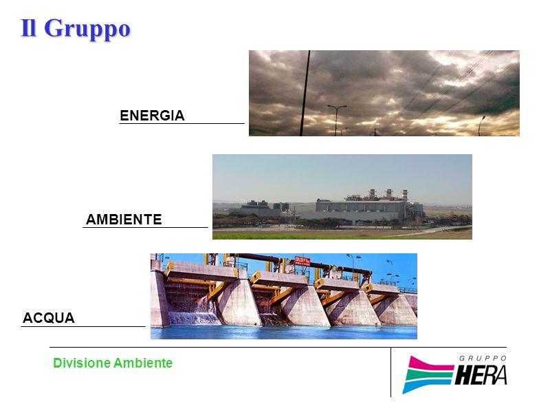 Divisione Ambiente ENERGIA AMBIENTE ACQUA Il Gruppo