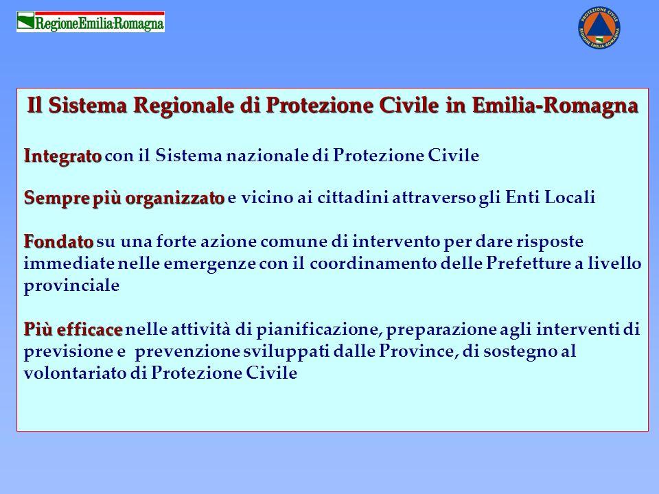 Il Sistema Regionale di Protezione Civile in Emilia-Romagna Integrato Integrato con il Sistema nazionale di Protezione Civile Sempre più organizzato S