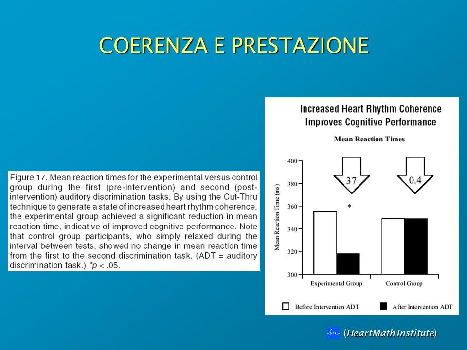 COERENZA E PRESTAZIONE (HeartMath Institute)