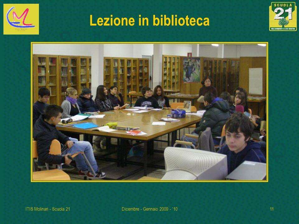 ITIS Molinari - Scuola 21Dicembre - Gennaio 2009 - '1011 Lezione in biblioteca