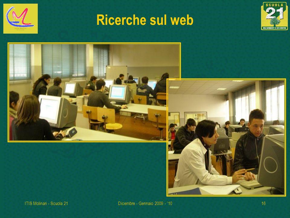 ITIS Molinari - Scuola 21Dicembre - Gennaio 2009 - '1016 Ricerche sul web
