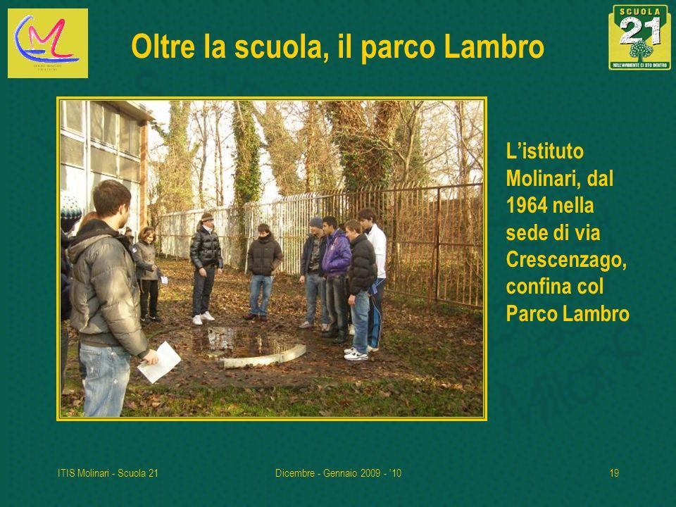 ITIS Molinari - Scuola 21Dicembre - Gennaio 2009 - '1019 Oltre la scuola, il parco Lambro Listituto Molinari, dal 1964 nella sede di via Crescenzago,