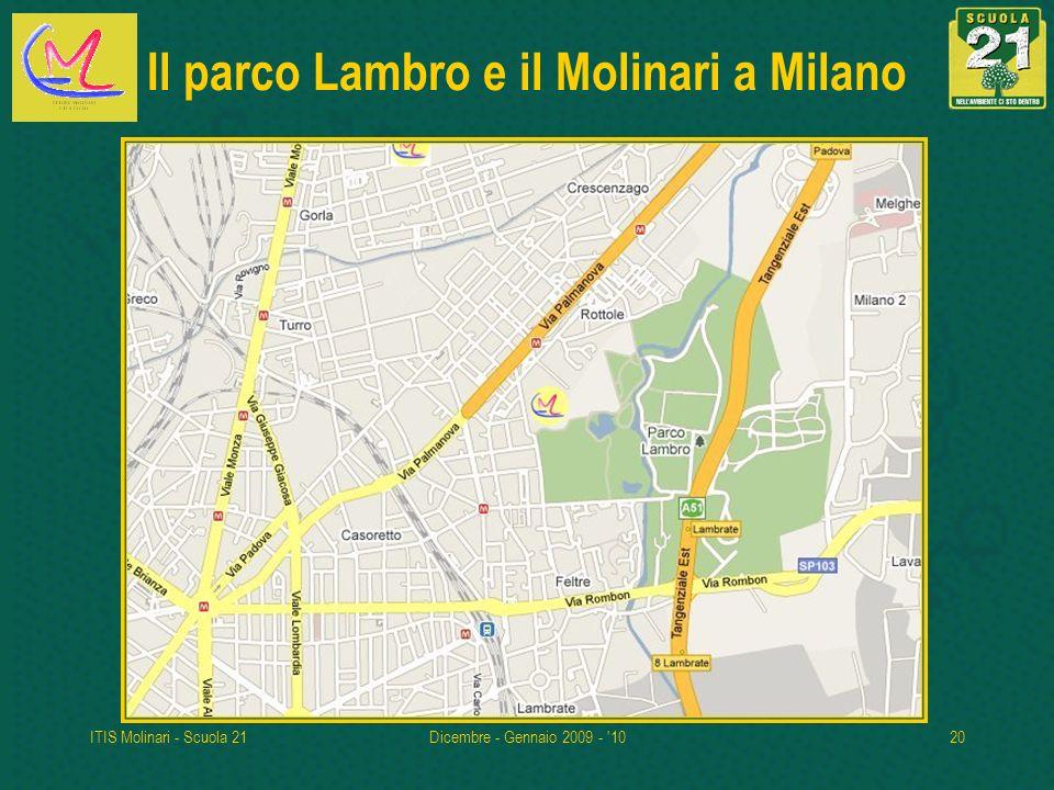 ITIS Molinari - Scuola 21Dicembre - Gennaio 2009 - '1020 Il parco Lambro e il Molinari a Milano
