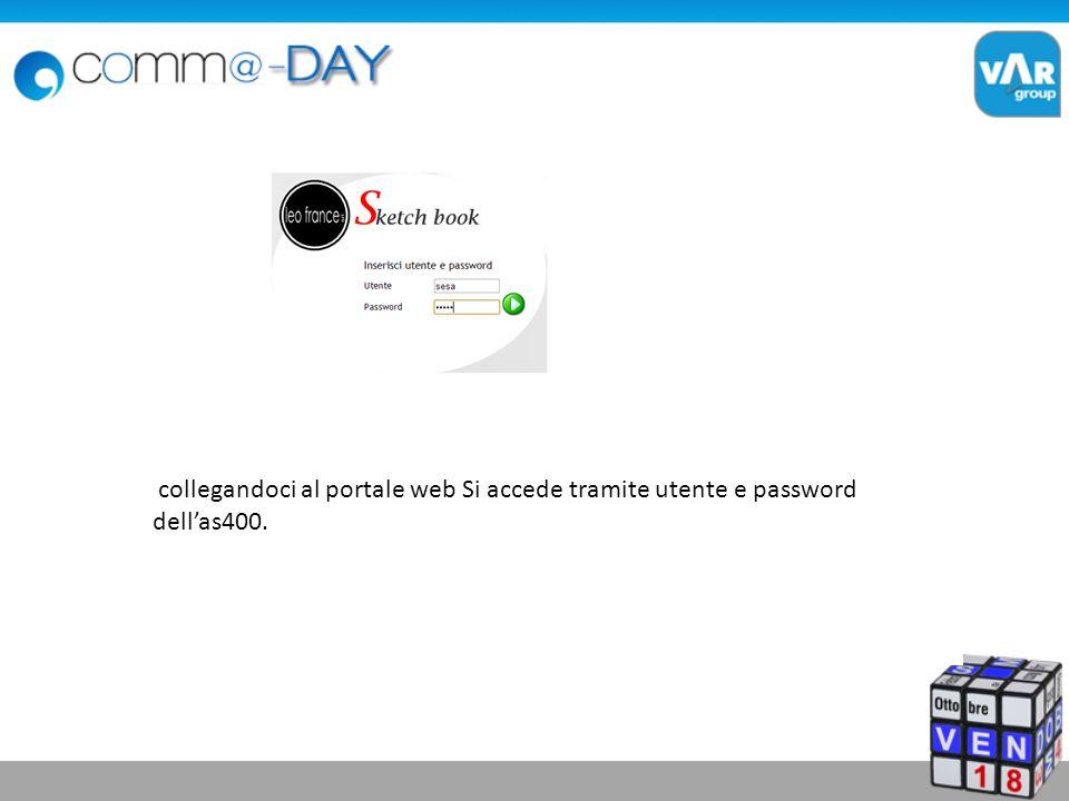 collegandoci al portale web Si accede tramite utente e password dellas400.