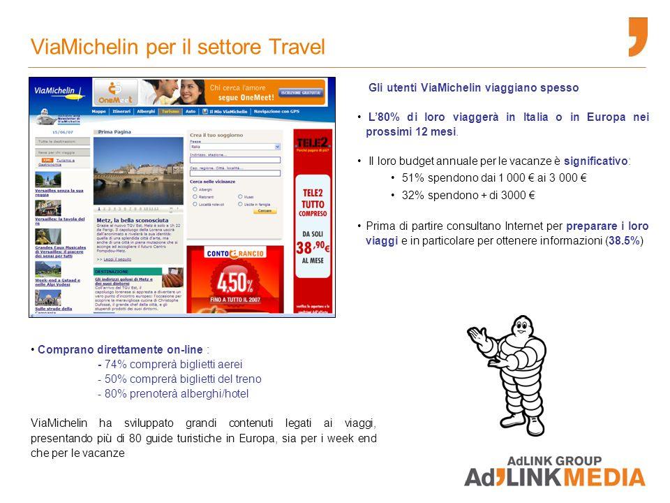 I formati pubblicitari ViaMichelin offre, oltre ai classici formati IAB, una serie di formati premium e personalizzazioni altamente integrate.