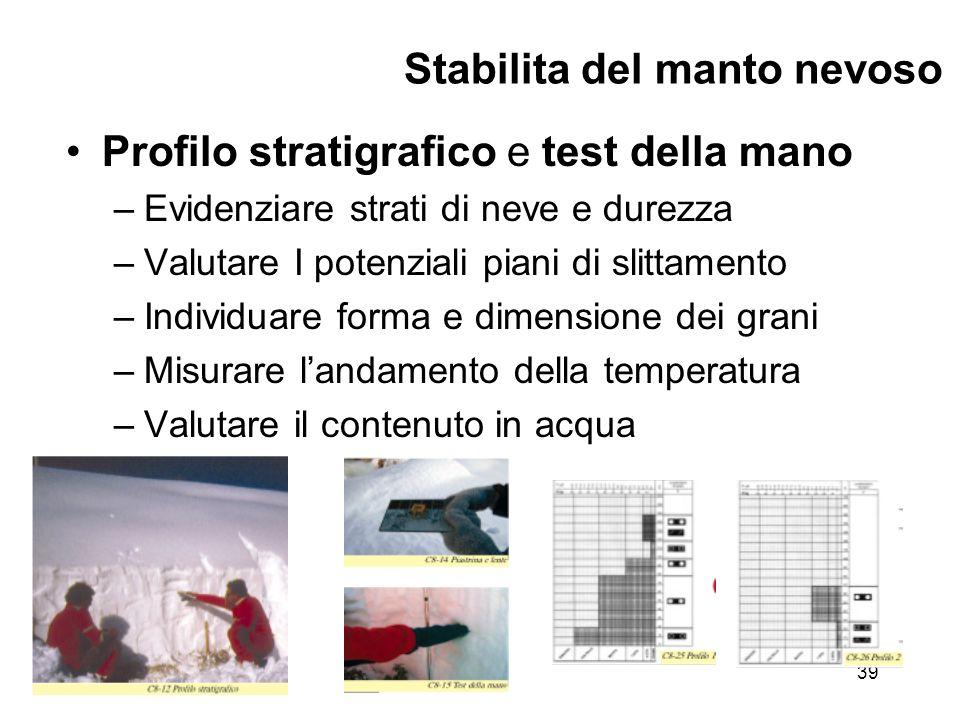 ©Henri Avancini40 Stabilita del manto nevoso Test del blocco di slittamento –Miglior sistema per valutare sul luogo la resistenza al taglio