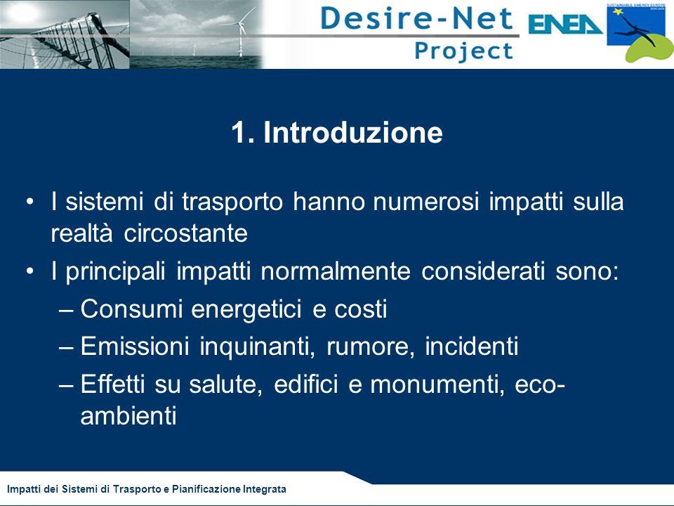 Impatti dei Sistemi di Trasporto e Pianificazione Integrata 1.