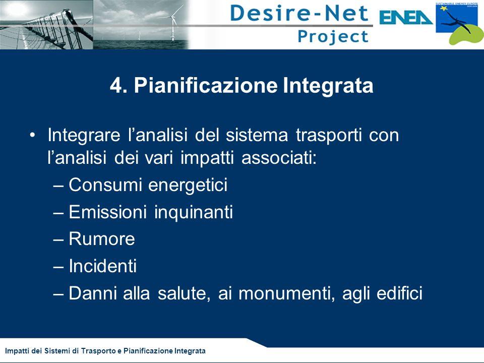 Impatti dei Sistemi di Trasporto e Pianificazione Integrata 4.