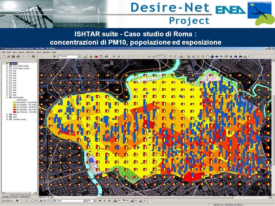45 Impatti dei Sistemi di Trasporto e Pianificazione Integrata ISHTAR suite - Caso studio di Roma : concentrazioni di PM10, popolazione ed esposizione
