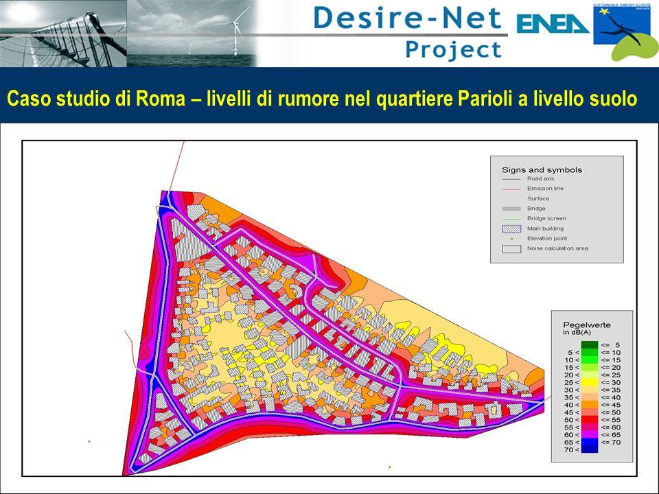 47 Impatti dei Sistemi di Trasporto e Pianificazione Integrata Caso studio di Roma – livelli di rumore nel quartiere Parioli a livello suolo