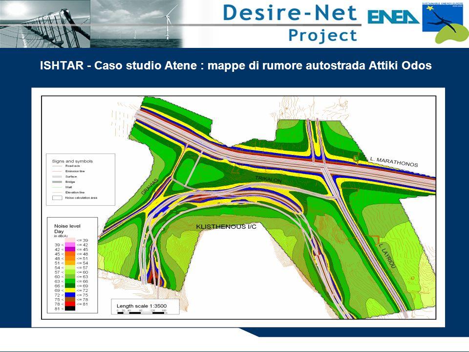 ISHTAR - Caso studio Atene : mappe di rumore autostrada Attiki Odos