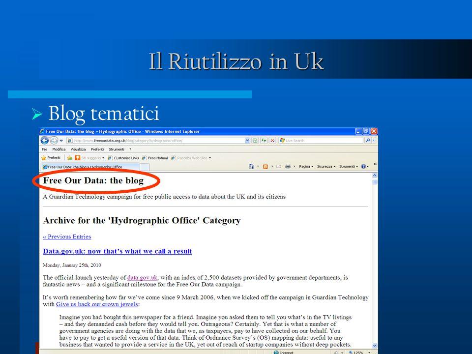 Il Riutilizzo in Uk Blog tematici