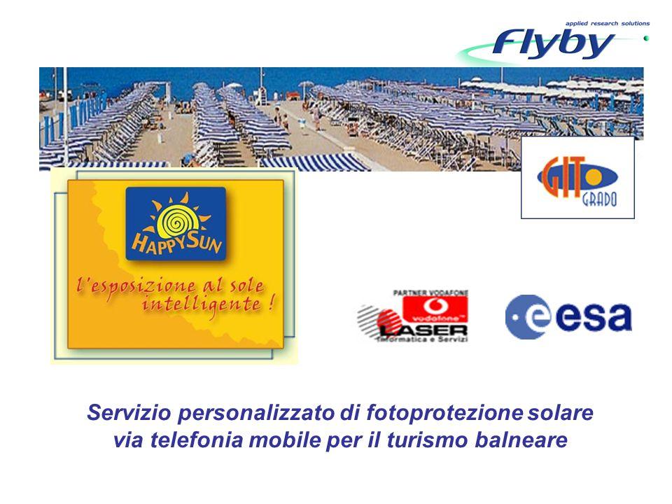 Servizio personalizzato di fotoprotezione solare via telefonia mobile per il turismo balneare