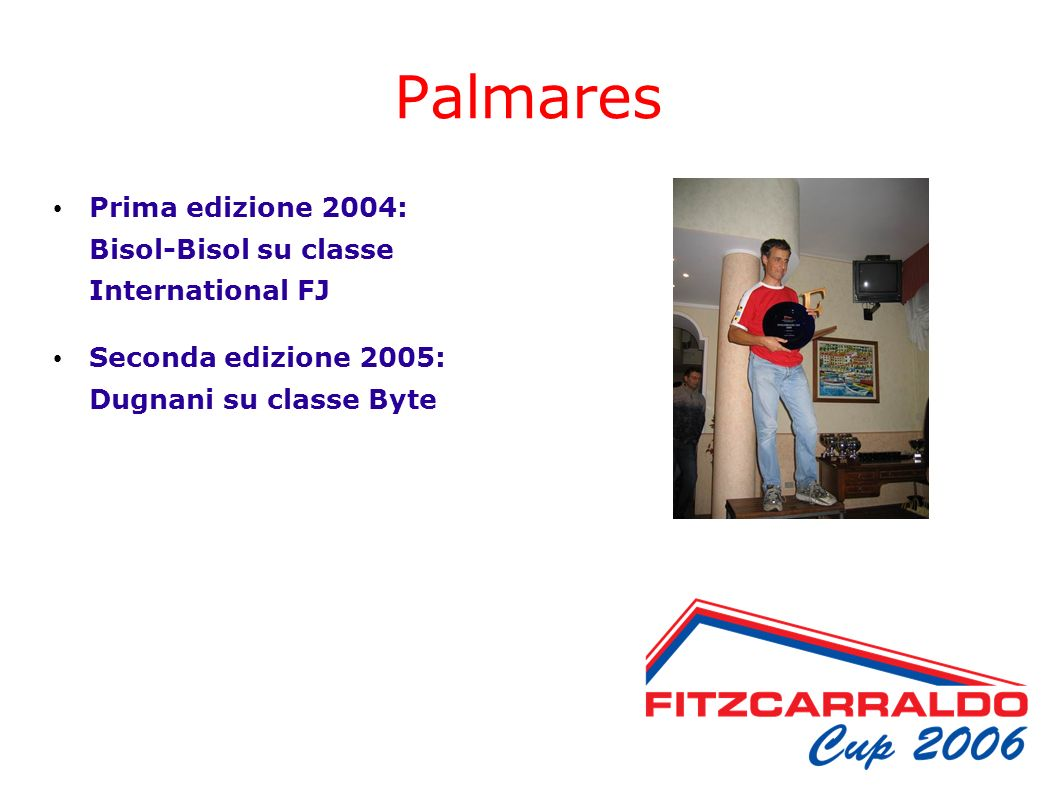 Palmares Prima edizione 2004: Bisol-Bisol su classe International FJ Seconda edizione 2005: Dugnani su classe Byte
