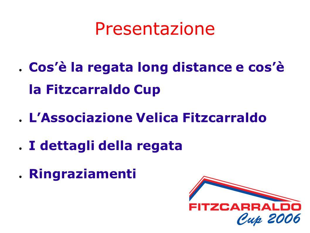 Presentazione Cosè la regata long distance e cosè la Fitzcarraldo Cup LAssociazione Velica Fitzcarraldo I dettagli della regata Ringraziamenti