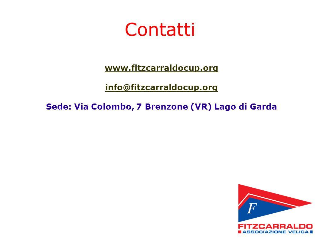 Contatti www.fitzcarraldocup.org info@fitzcarraldocup.org Sede: Via Colombo, 7 Brenzone (VR) Lago di Garda