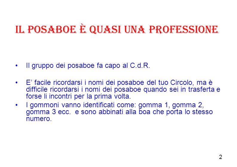 2 Il posaboe è quasi una professione Il gruppo dei posaboe fa capo al C.d.R.