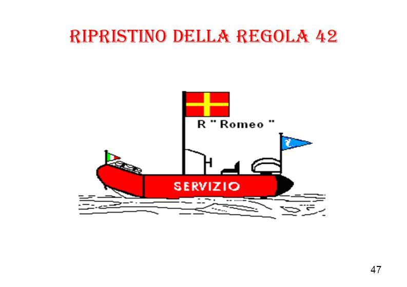 47 Ripristino della regola 42