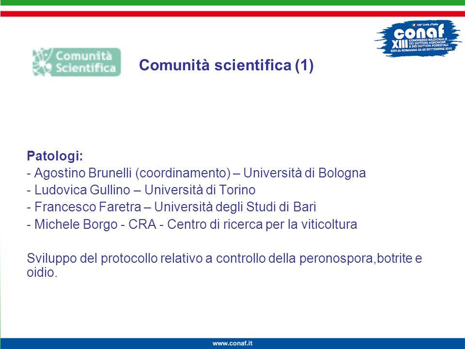 Innovazione continua per la competitività, lambiente e la salute Patologi: - Agostino Brunelli (coordinamento) – Università di Bologna - Ludovica Gull
