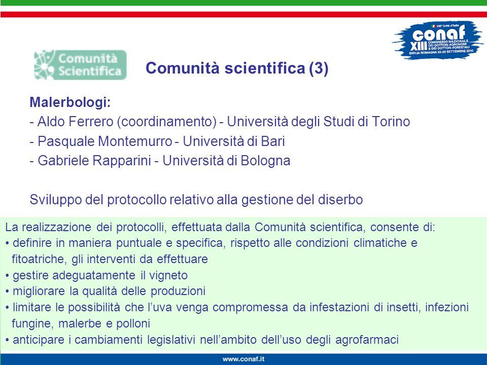 Innovazione continua per la competitività, lambiente e la salute Malerbologi: - Aldo Ferrero (coordinamento) - Università degli Studi di Torino - Pasq