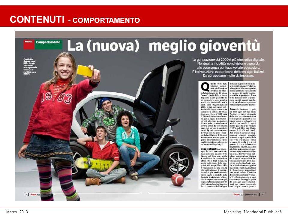 Marketing Mondadori PubblicitàMarzo 2013 CONTENUTI - TECNOLOGIA