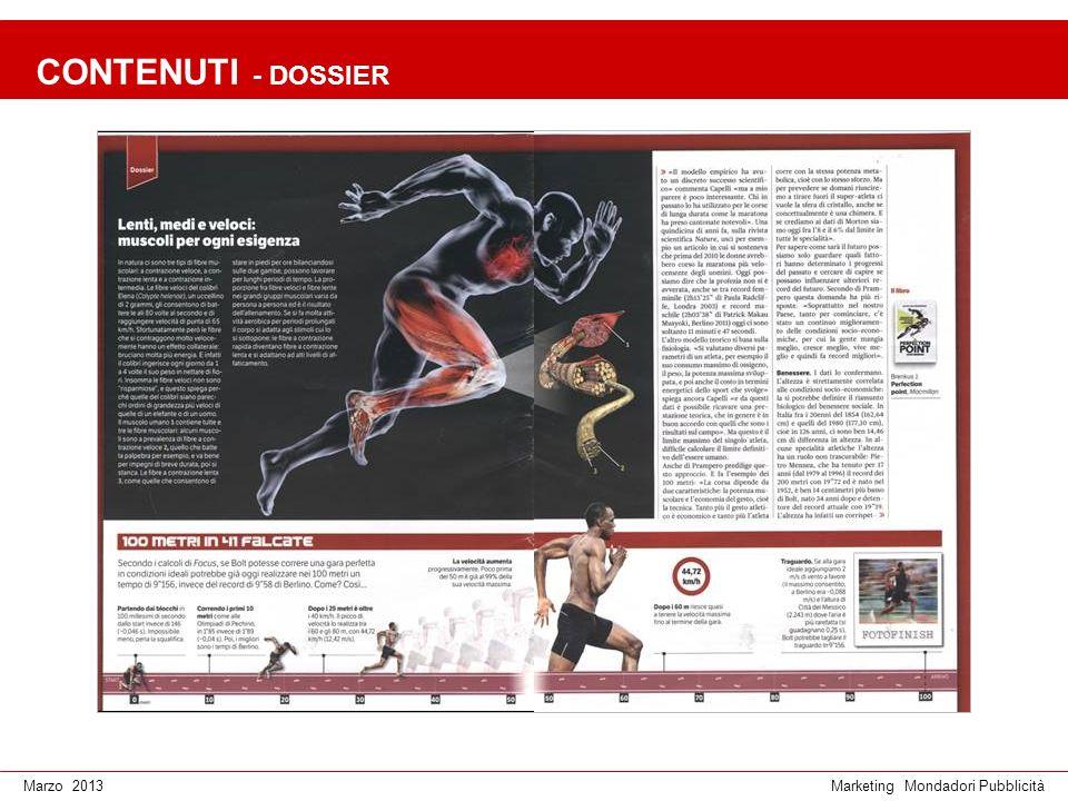 Marketing Mondadori PubblicitàMarzo 2013 CONTENUTI - DOSSIER