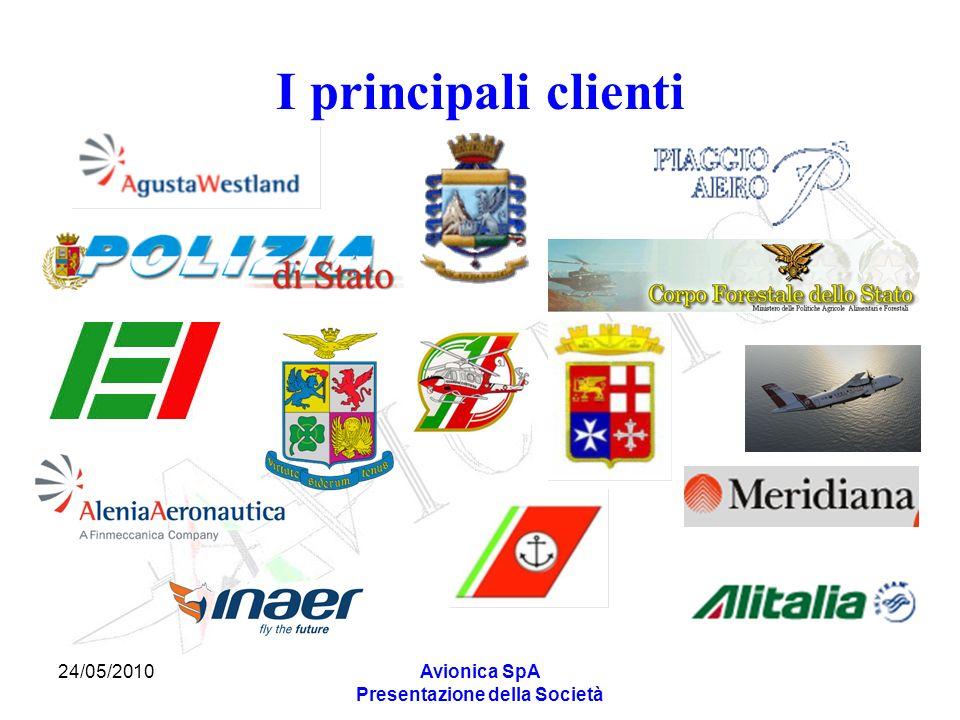 24/05/2010Avionica SpA Presentazione della Società I principali clienti